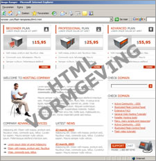 DotNetNuke (DNN) Skinning, vormgeving, user - grafische interface design (Before)